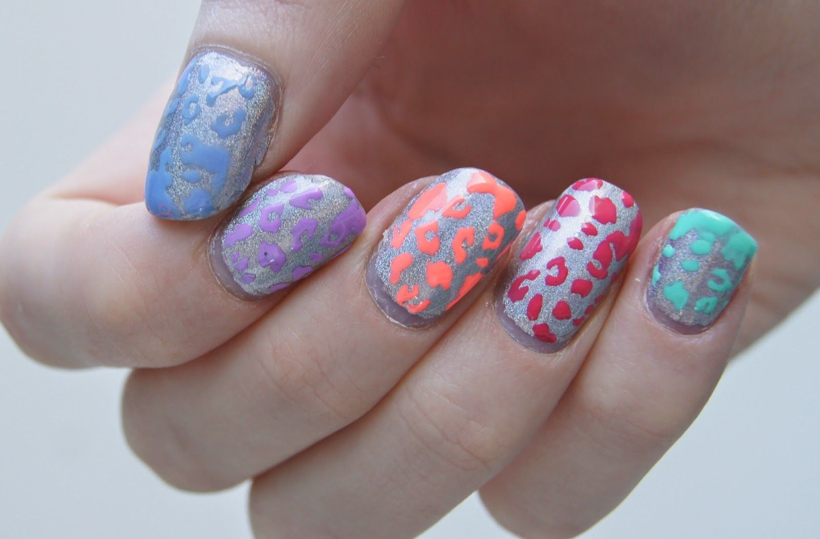 Leopard nails colors nail art uÑas pinterest leopard nails