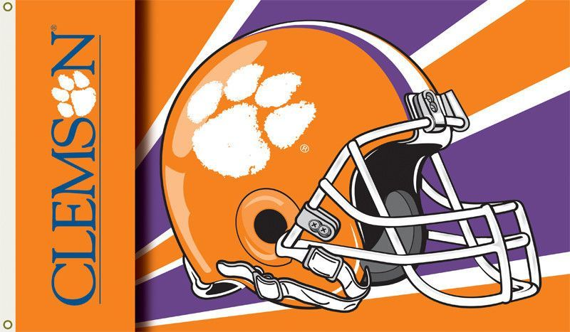 Clemson Tigers 3 Ft X 5 Ft Flag W Grommets Helmet Design Helmet Design Football Helmets Tiger Football