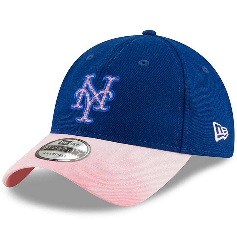 801eba54b330b New York Mets New Era Women s 2019 Mother s Day Team Glisten 9TWENTY  Adjustable Hat - Royal
