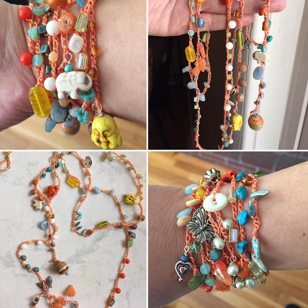 We on Facebook: http://ift.tt/2jRHDjd Beautiful Beaded Jewelry #underbeads by @underbeads Check our #AmazingPhoto WEBSTA: Bead crochet wrap bracelet i cannot stop making them#beadwrap #beadcrochet #beadbracelet #bohostyle #bohemianstyle