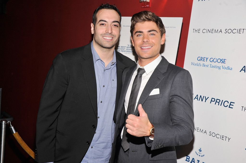 "Mohammed Al Turki and Zac Efron attend the Cinema Society & Bally screening of Sony Pictures Classics' ""At Any Price"" at Landmark Sunshine Cinema on April 18"