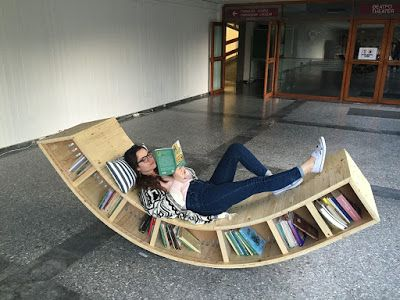 Rocking Chair Bookcase Made By Sofia Alexiou For The Athens Universityu0027s  Library   1,285 Nails Were