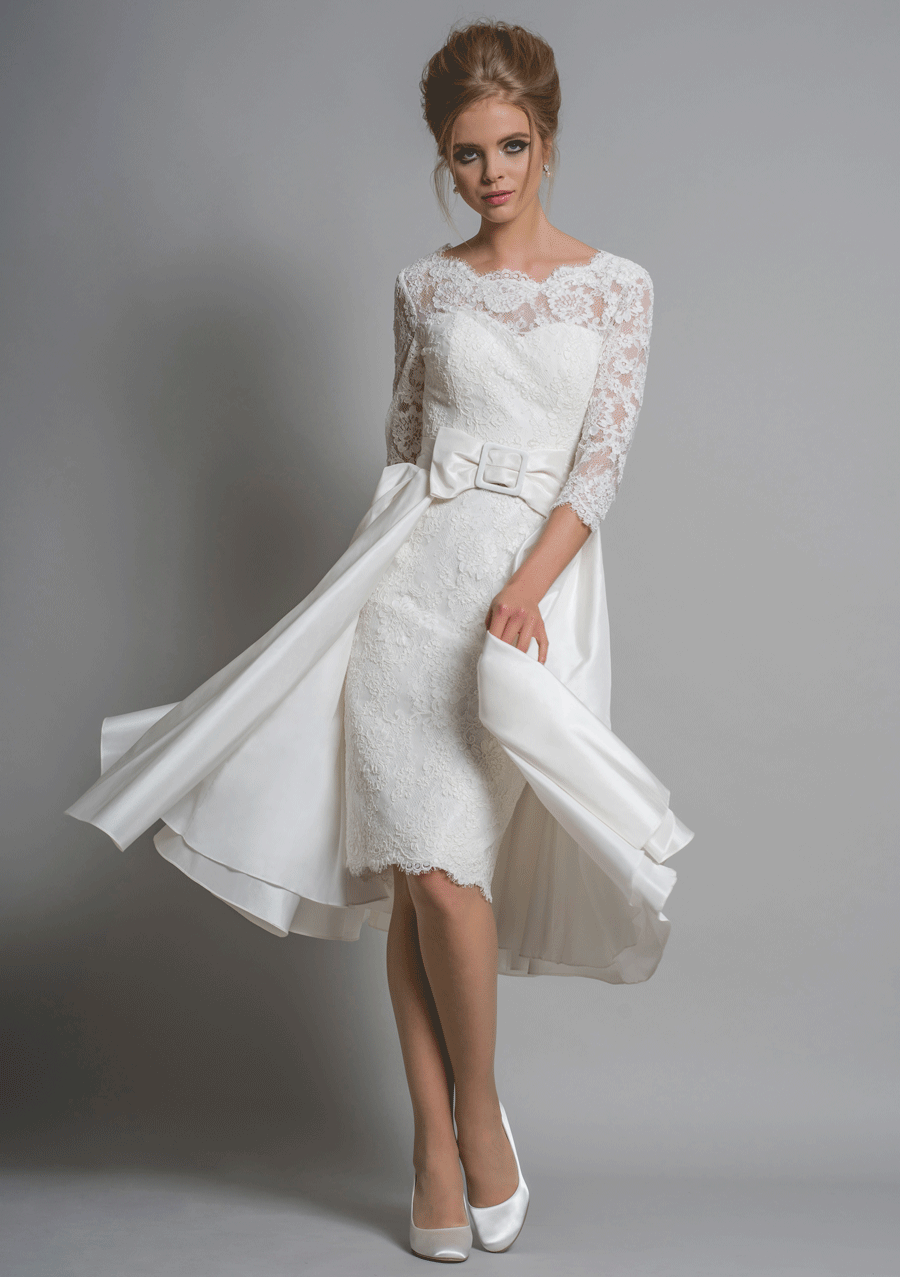 Your Wedding. Planned to Perfection.   Knee length wedding dress ...