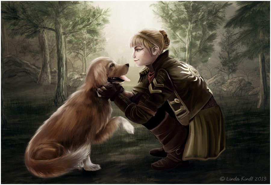 The Princess And The Dog By Isriana Deviantart Com On Deviantart