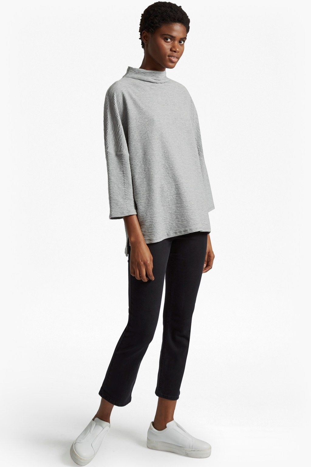 Sudan Pique Mock Neck Jumper | Tops | French Connection Usa