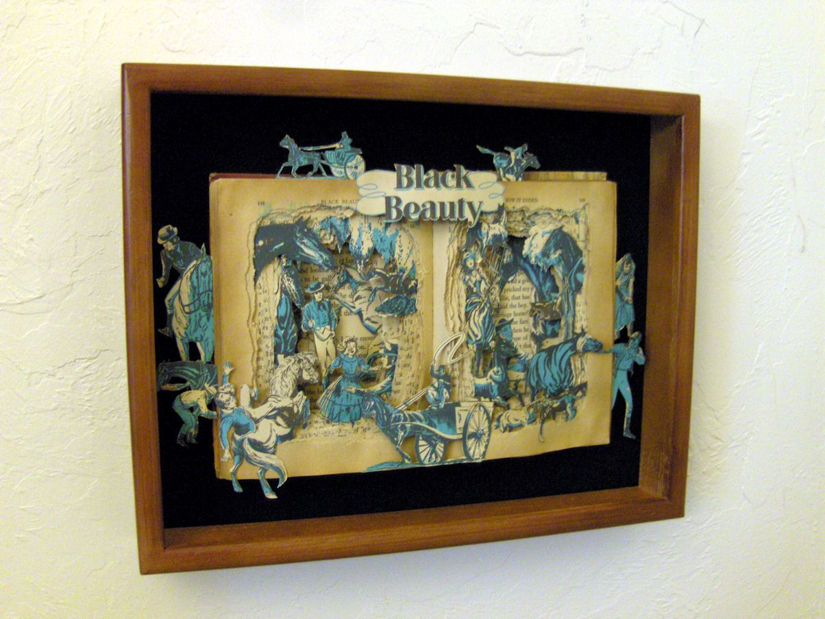 brilliant.  Black Beauty  One of a Kind Book Sculpture  by artfuliving, $180.00