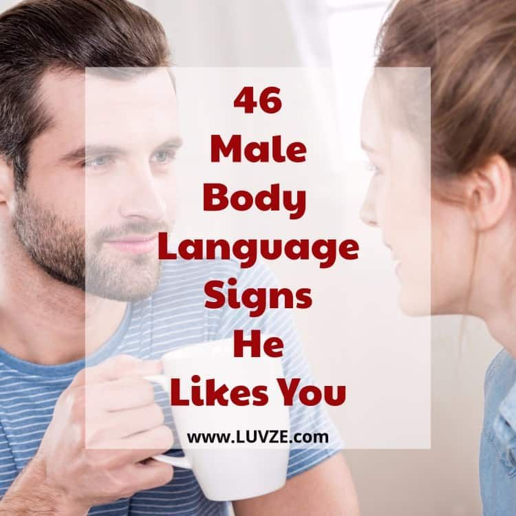 Body language when he likes you
