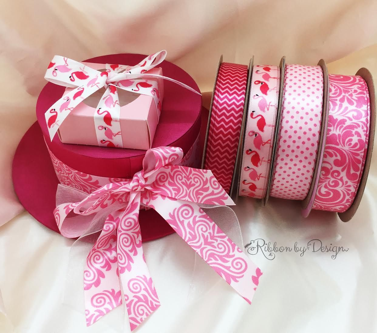 Have a pink themed party? Or are you just a pink lover? Our high quality ribbons feature different shades and patterns of pinks to satisfy your picky eyes and needs for different purposes.