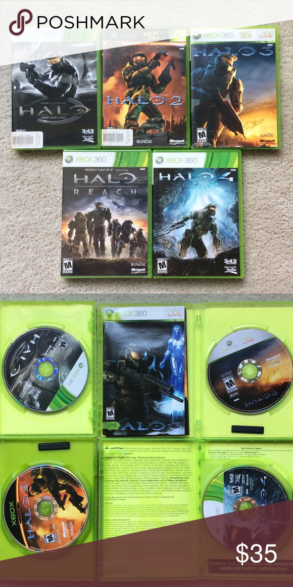 BUNDLE Xbox 360 Halo Games Great Collection! HALO REACH is still in its wrapper. Xbox 360 Other