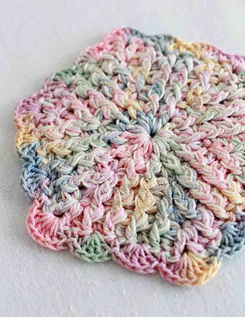 Pastel Coasters To Crochet Or Make Them A Little Bigger And Use As