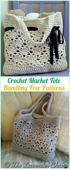Crochet Market Tote Handbag Free Pattern - #Crochet Handbag Free ...