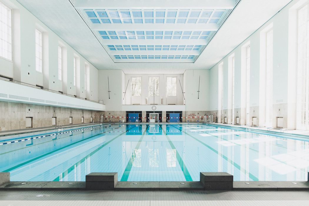 Delightful Architectural Restoration Of A 1938 Swimming Pool, Berlin, Germany