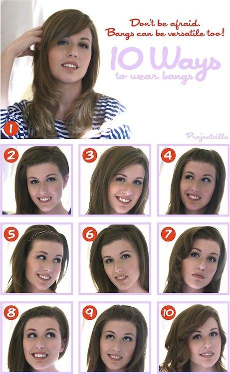 #bangs #diy #tips #hurr basics. | Face shape hairstyles ...