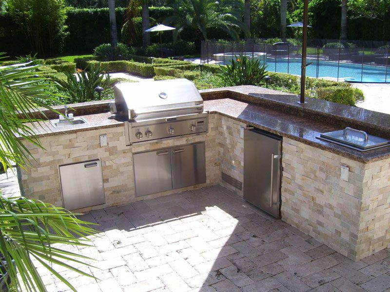 L Shaped Outdoor Kitchen Ideas  Google Search  Pool  Pinterest Entrancing Outdoor Kitchen Layout Decorating Design