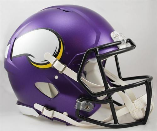 Minnesota Vikings Full Size Riddell Speed Football Helmet Fútbol Americano b800f66e78d
