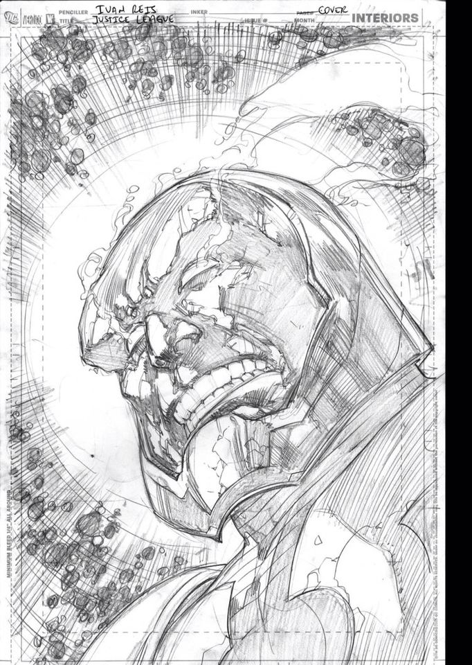 Darkseid Justice League Alternative Cover Comic Book Drawing Comic Books Illustration Comic Book Artwork Kinda dumb how it's league themed but whatever man. pinterest