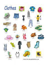 Clothes ... ESL printables