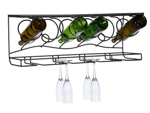 Oenophilia Wine Bar Wall Rack Gun Metal Zapposcom Free Shipping