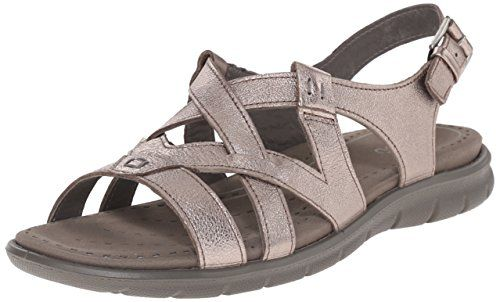 767d970512d6 Ecco Footwear Womens Women s Babett Cross Strap Gladiator Sandal  Dominate  the coliseum with these roman