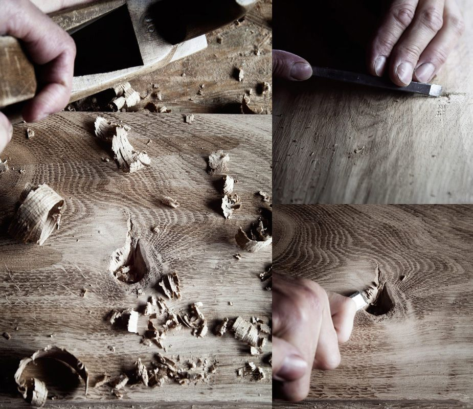Antique Oak handmade floor making our floors www.antiqueoak.pl