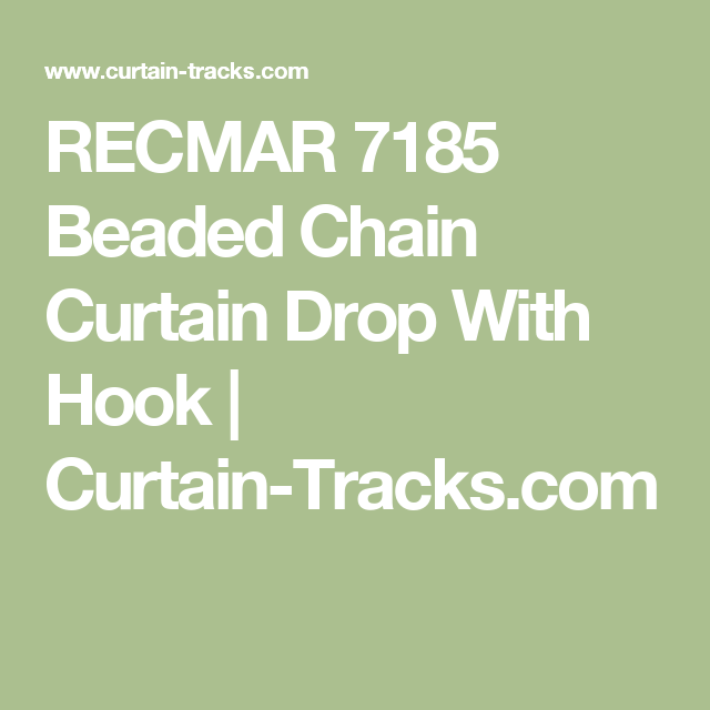 RECMAR 7185 Beaded Chain Curtain Drop With Hook
