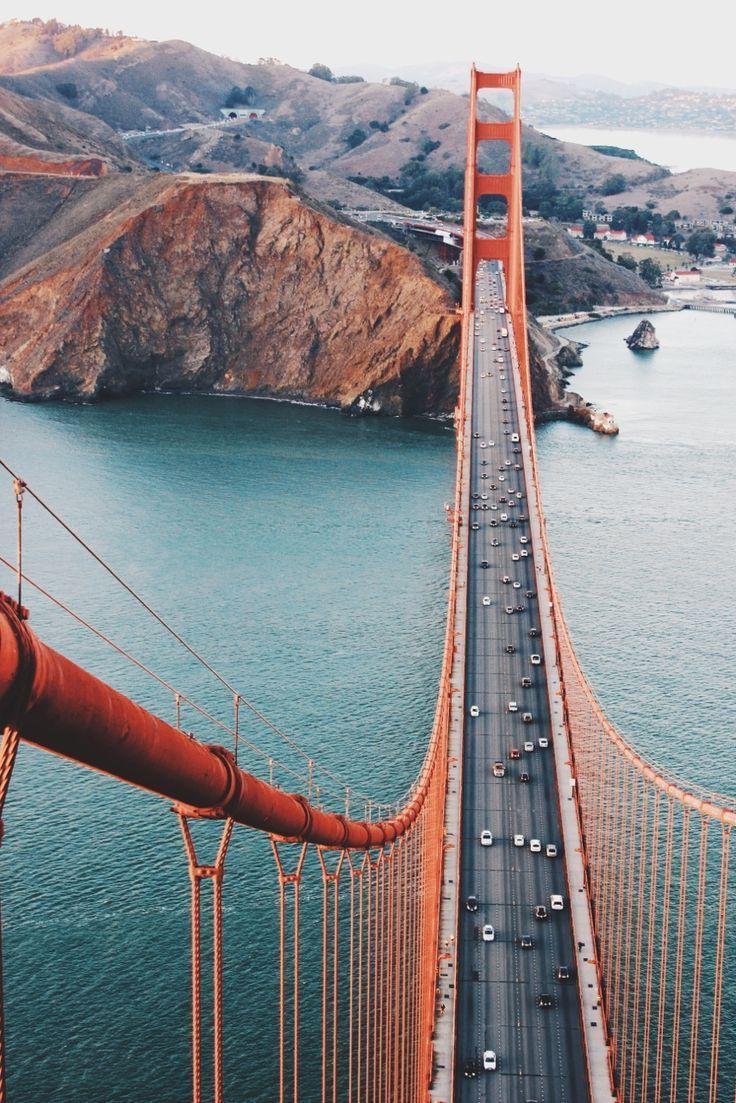 Golden Gate bridge near San Francisco California