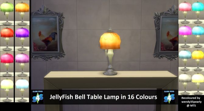 Jellyfish Bell Table Lamp By Wendy35pearly At Mod The Sims Sims 4 Updates Lamp Sims 4 Table Lamp