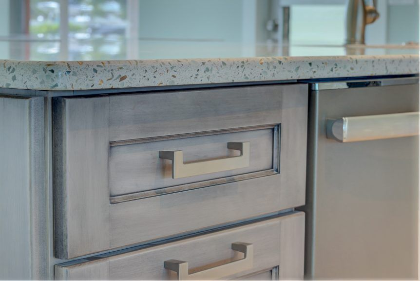 Countertops U2013 Curava Recycled Glass Surfaces U2013 Savaii Avalon Remodel   Cabinet  Genies   Kitchen And