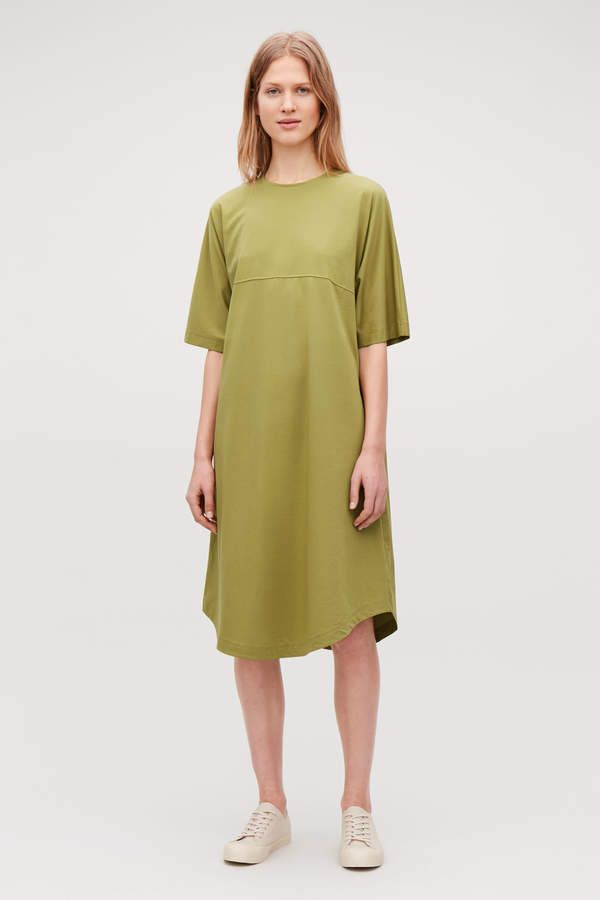 cd12041d92be Cos WOVEN-PANELLED A-LINE JERSEY DRESS