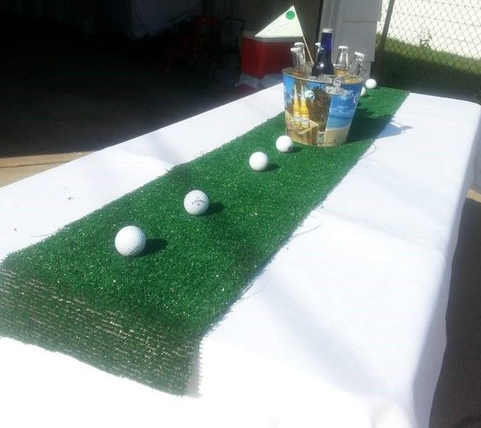 Golf theme centerpiece retirement party pinterest for Golf centerpiece ideas
