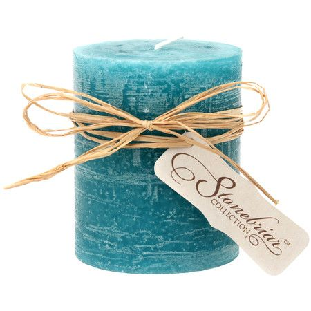 "Textured wax candle in ocean.  Product: CandleConstruction Material: WaxColor: OceanFeatures: UnscentedDimensions: 4"" H x 2.75"" Diameter $10"