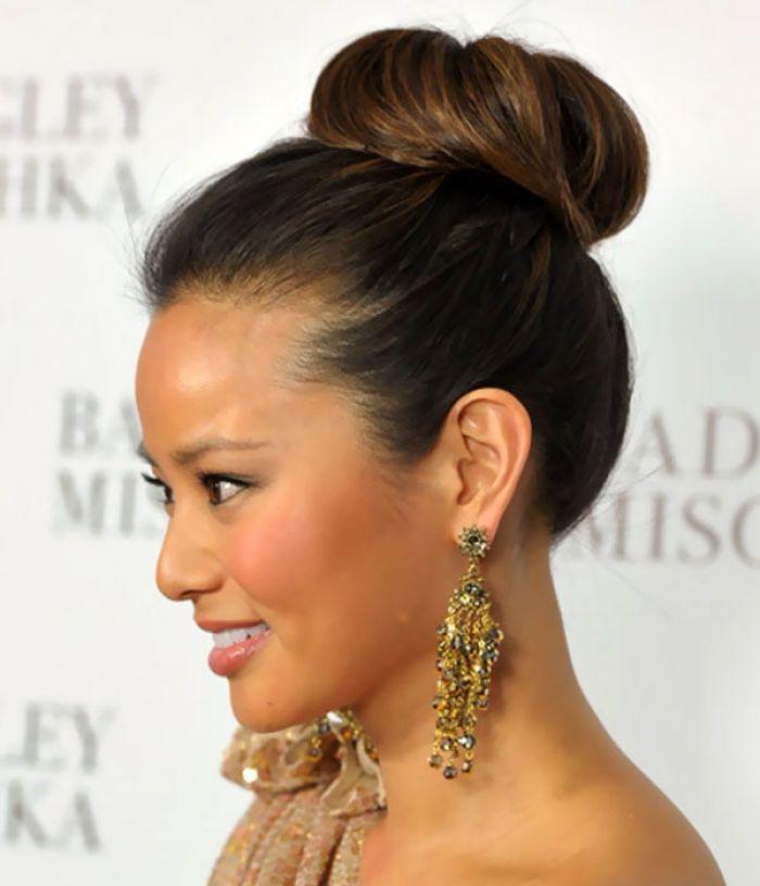 Images Of Classic High Bun Updos Hairstyles For Medium Length Hair Design Wallpaper Hair Styles Updos For Medium Length Hair Womens Hairstyles