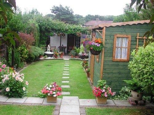 Fotos de casas campo rusticas jard n pinterest for Jardines de casas rusticas