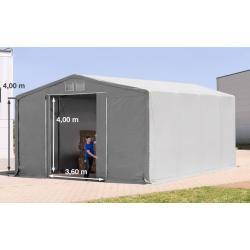Photo of Zelthalle 8x8m Pvc 550 g/m² grau wasserdicht Industriezelt Toolport