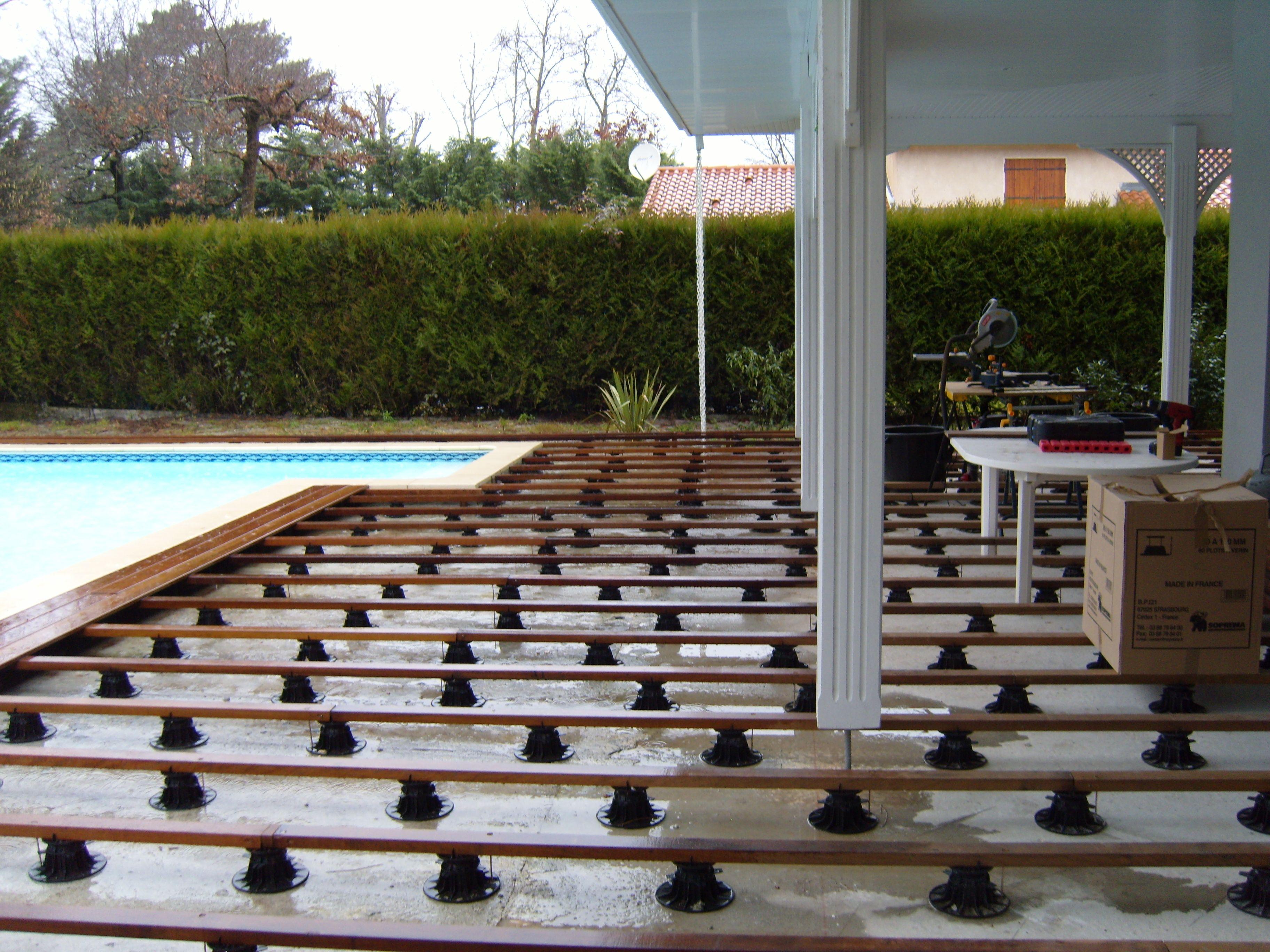 Terrasse En Bois Andernos Les Bains Pose Sur Plots Reglables En