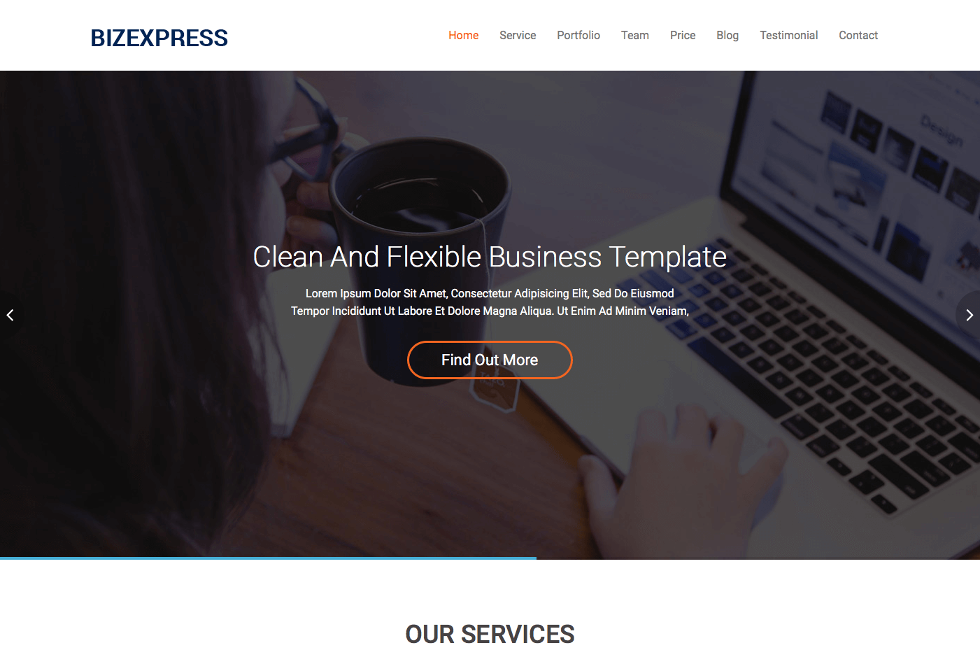BizExpress is a bootstrap based & responsive HTML template with all ...