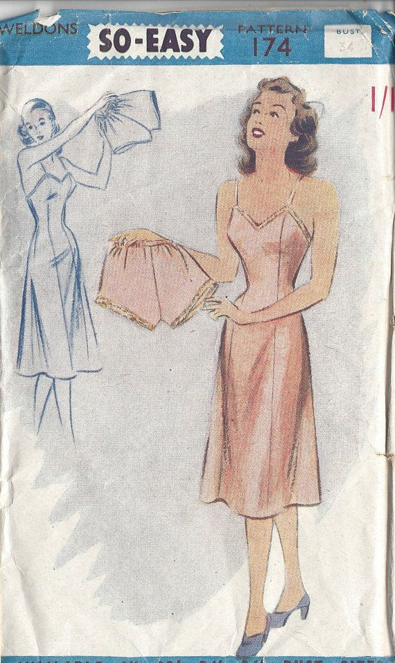 1940s Vintage Sewing Pattern B34\