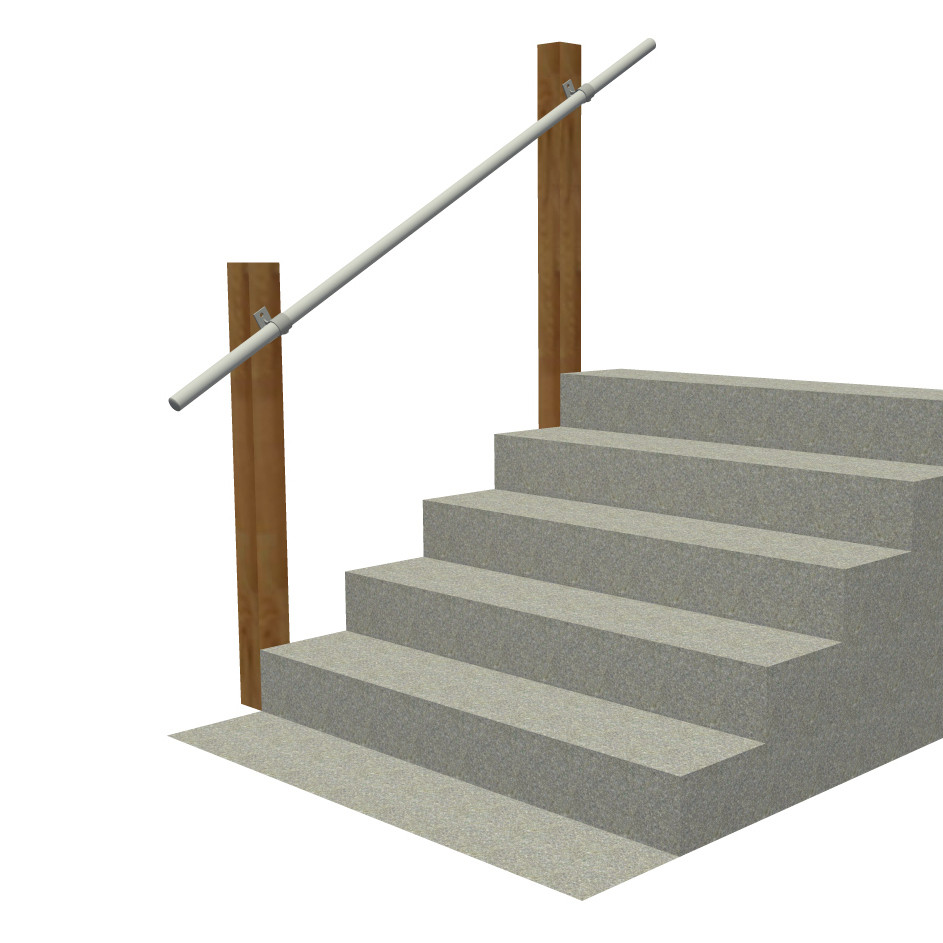 Best Wall 70 Wall Mounted Railing Exterior Stair Railing 400 x 300