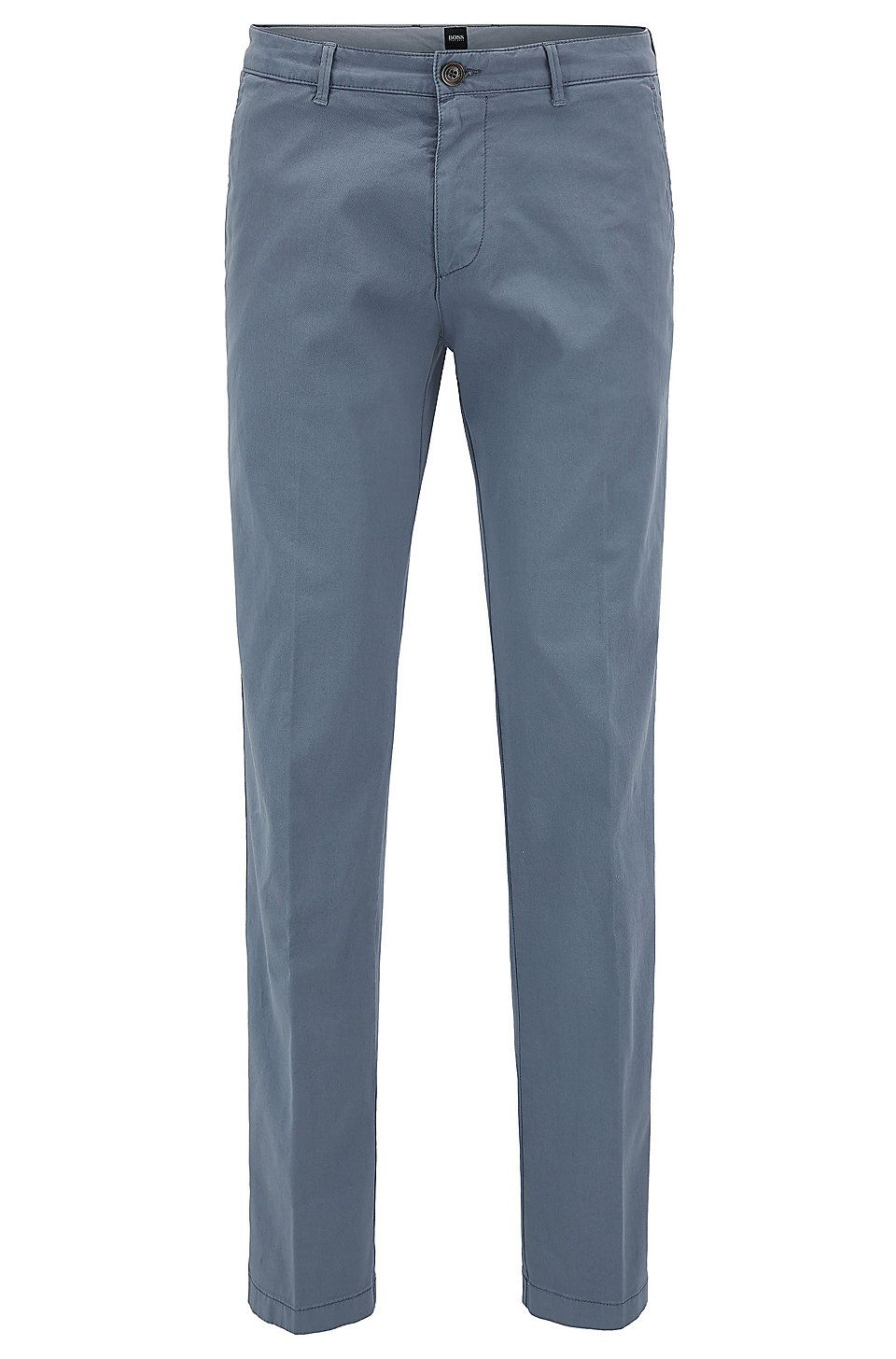 332c918d6b HUGO BOSS Regular-fit chinos in stretch cotton gabardine - Open Grey ...