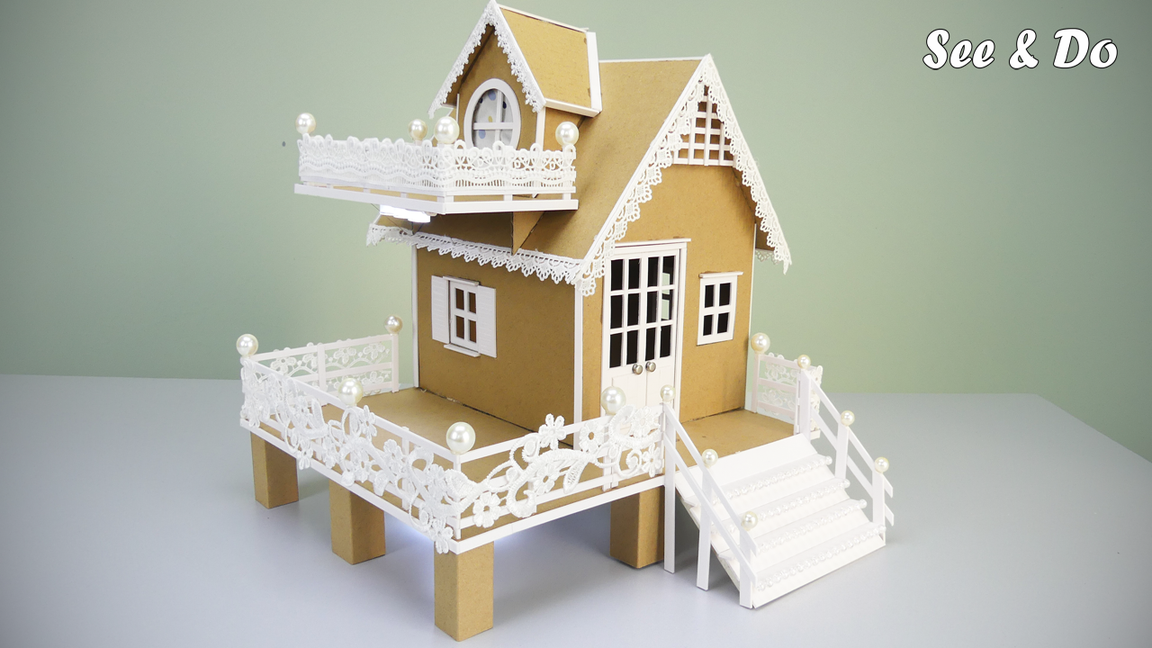 How To Make A Cute Cardboard House 2020 Compilation Dream House Model 78 In 2020 Cardboard House Cute House Popsicle Stick Houses