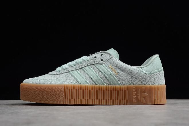 release info on brand new sale retailer Women's adidas Sambarose Vapour Green/Gum Shoes in 2019 ...