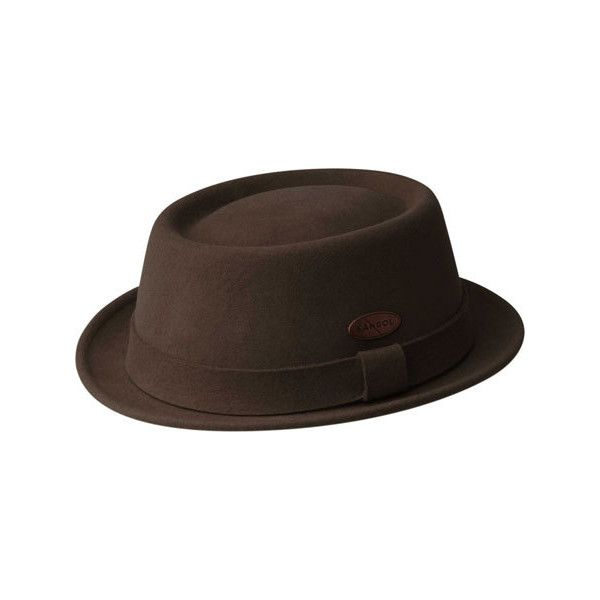 Kangol Lite Felt Pork Pie ( 100) ❤ liked on Polyvore featuring accessories 5aa39a0d1234