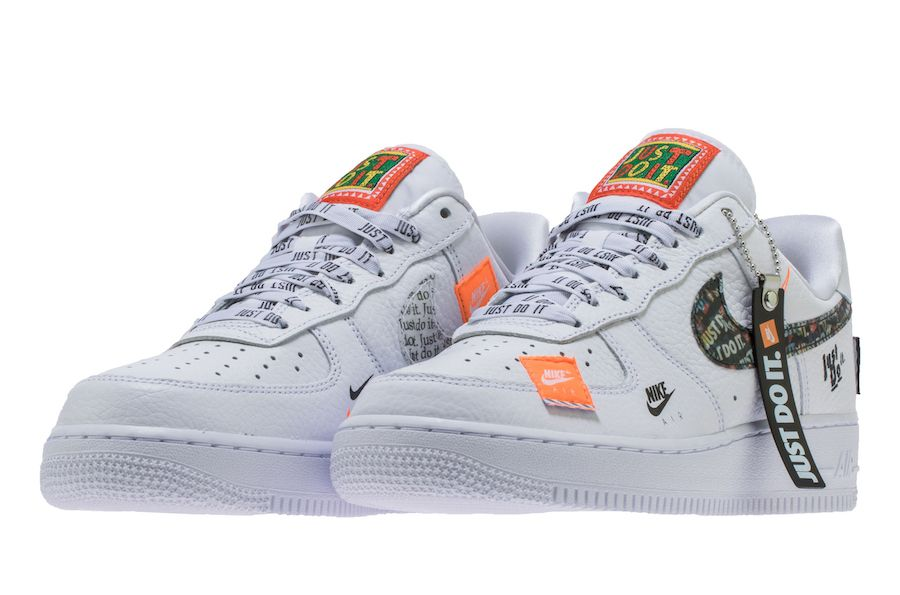 "low priced df3f2 9d76e Nike Air Force 1 07 Premium ""Just Do It"" Releasing in White"