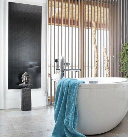 Redwell Glas-Infrarotheizung fürs Badezimmer in schwarz glatt oder - bilder fürs badezimmer