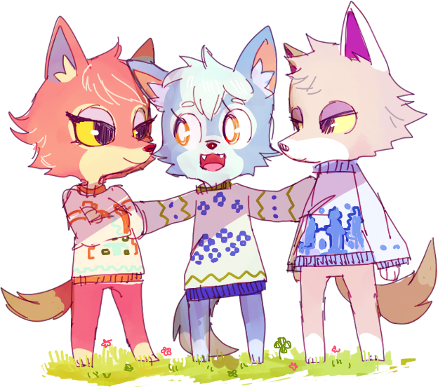 """simirgos: """" sweater wolves, maybe they're siblings? i'd ..."""
