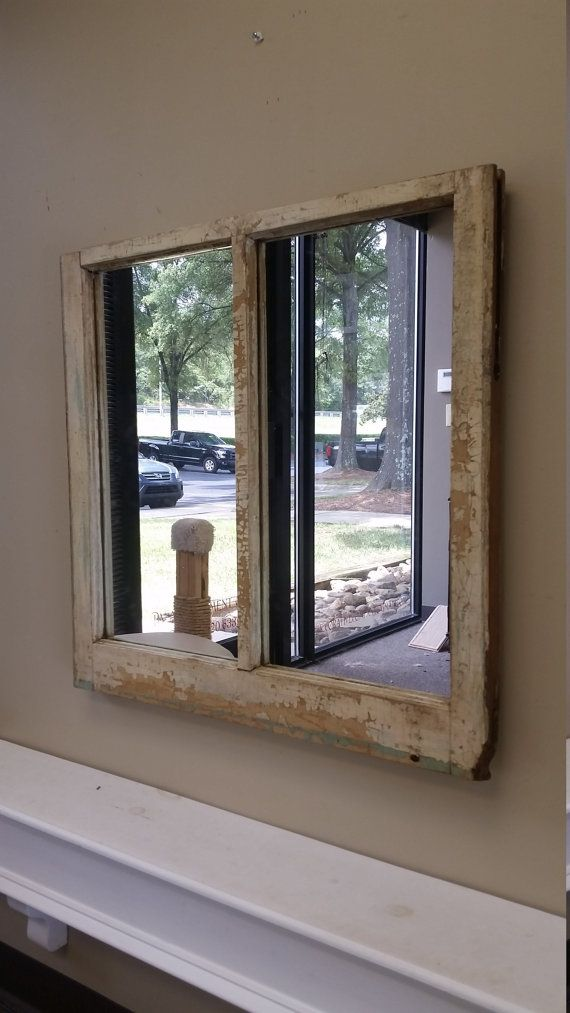 White Window Pane Mirror Made From A Charleston Sc Home Built In