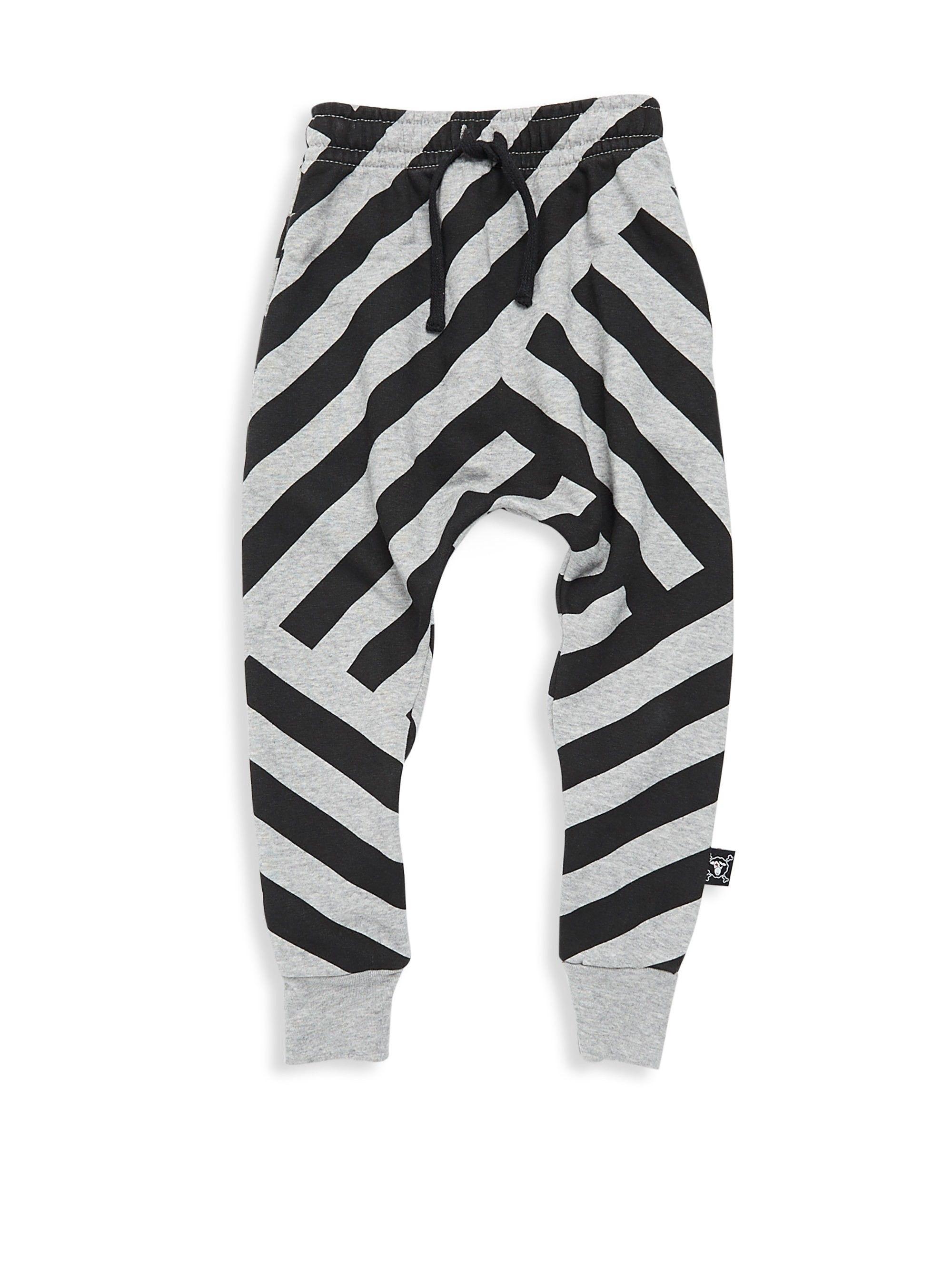 534f6aec9 Nununu Baby Boy's, Little Boy's & Striped Baggy Pants - Heather Grey 12-18  Months
