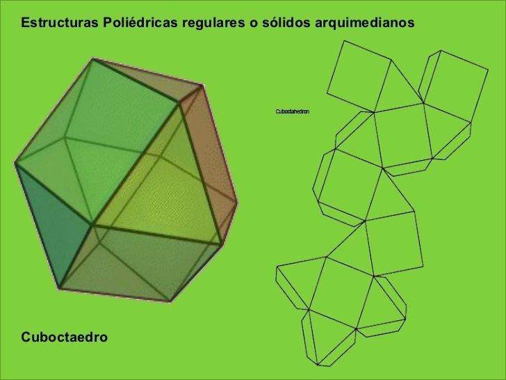 Cuboctaedro Estructuras Poliédricas regulares o sólidos ...