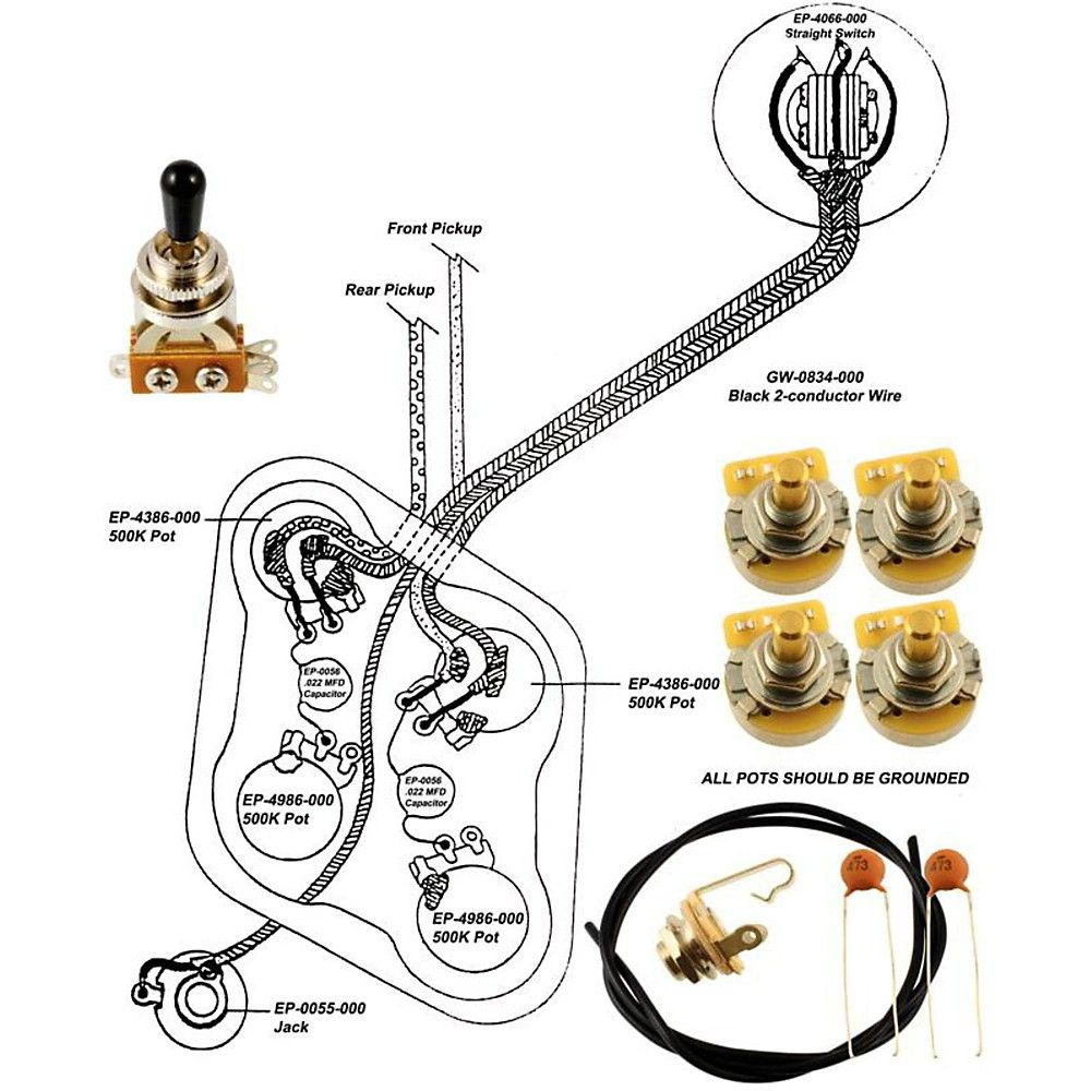 small resolution of allparts ep 4148 000 wiring kit for epiphone