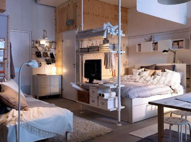 Studio Nos 30 Idees De Rangements Bien Penses Elle Decoration Apartment Design Apartment Interior Apartment Decor